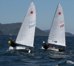 Peter had a great battle with Maggie on the final beat and just edged her out by sailing flatter and faster
