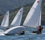 Geo having a nightmare at the bottom mark on the final race. She sailed a great regatta to finish 5th overall.