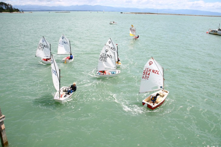 Green Fleet in the start sequence
