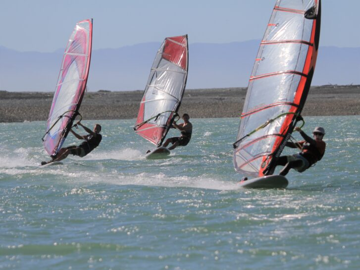 windsurfing in the Nelson haven